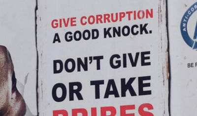Poster on corruption