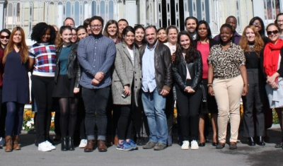 2017 Transitional Spring School: group photo of all participants in front of the Villa Moynier