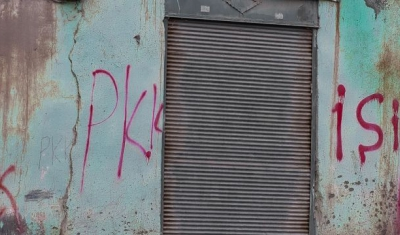 Wall with PKK tags