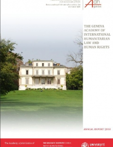 Cover of the Annual Report 2010