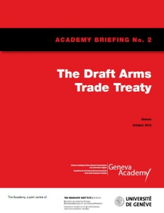 Cover of the Briefing No2: Draft Arms Trade Treaty