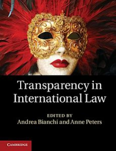 Cover of the book Transparency in International Law
