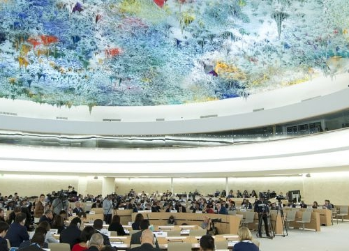 View of the UN Human Rights Council