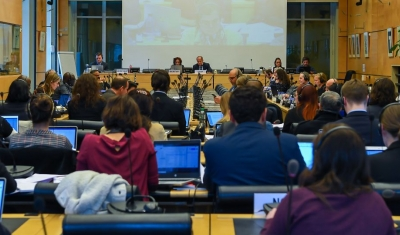 View of a session of the UN Human Rights Committee