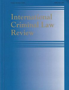 Cover of the International Criminal Law Review
