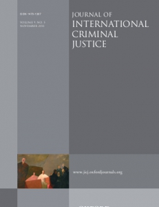 Cover of the Journal of  International Criminal Justice