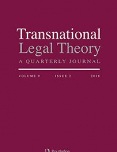 Cover page of the Transnational Legal Theory Journal