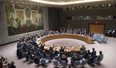 View of the UN Security Council