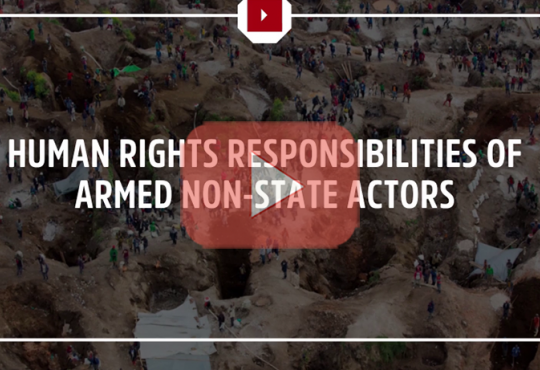 Human Rights Responsibilities of Armed Non-State Actors